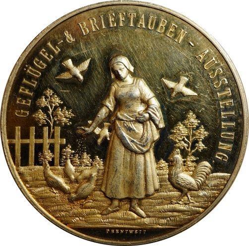 1902-Medaille-Geflgel-u-Brieftauben-Ausstellung-Landshut-gold