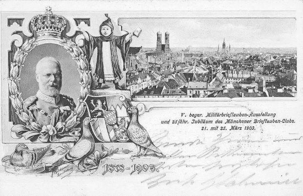 1903-bayr-Militarbrieftaubenausstellung-Postkarte